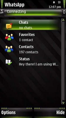 Download Messenger Application WhatsApp Beta for Nokia 5800, N97 and 5530
