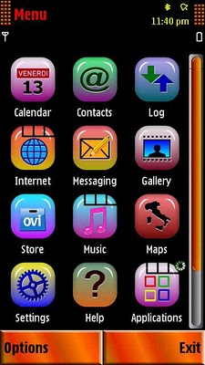 Download Theme Murano's Fire for Nokia 5800, N97, 5530, 5230, 5233 and X6